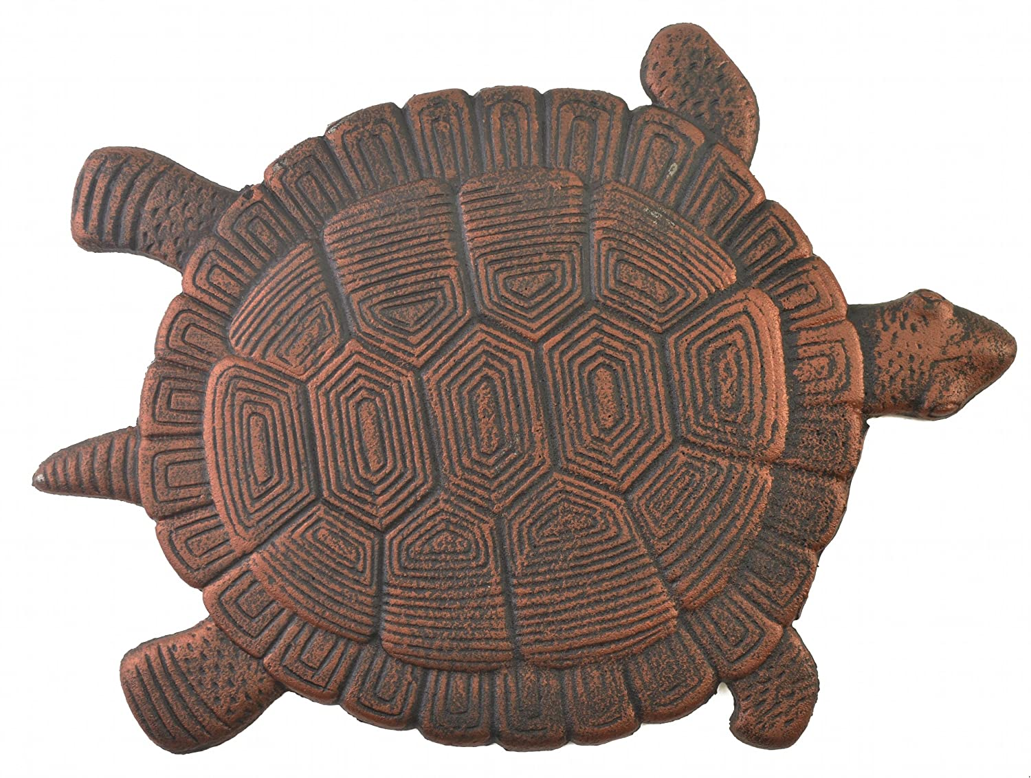 Turtle Stepping Stone Cast Iron Outdoor Yard and Garden Decor Bronze