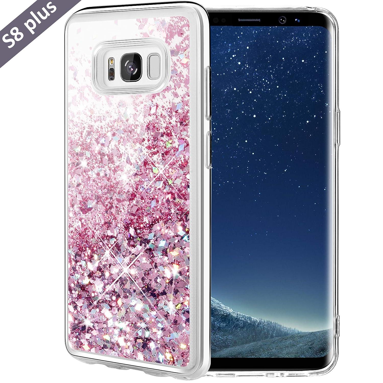Caka Galaxy S8 Plus Case, Galaxy S8 Plus Glitter Case Luxury Fashion Bling Flowing Liquid Floating Sparkle Glitter Soft TPU Case for Samsung Galaxy S8 ...