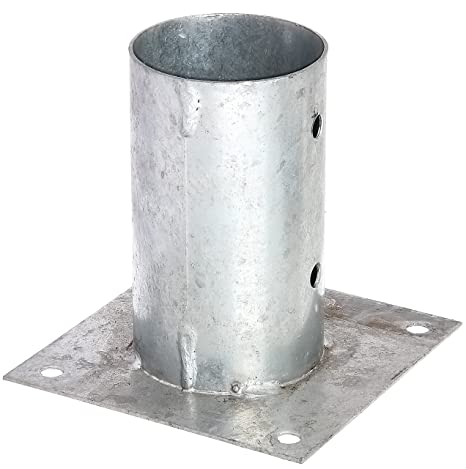 Soporte de estaca para postes cuadrados GAH-Alberts galvanizado al fuego