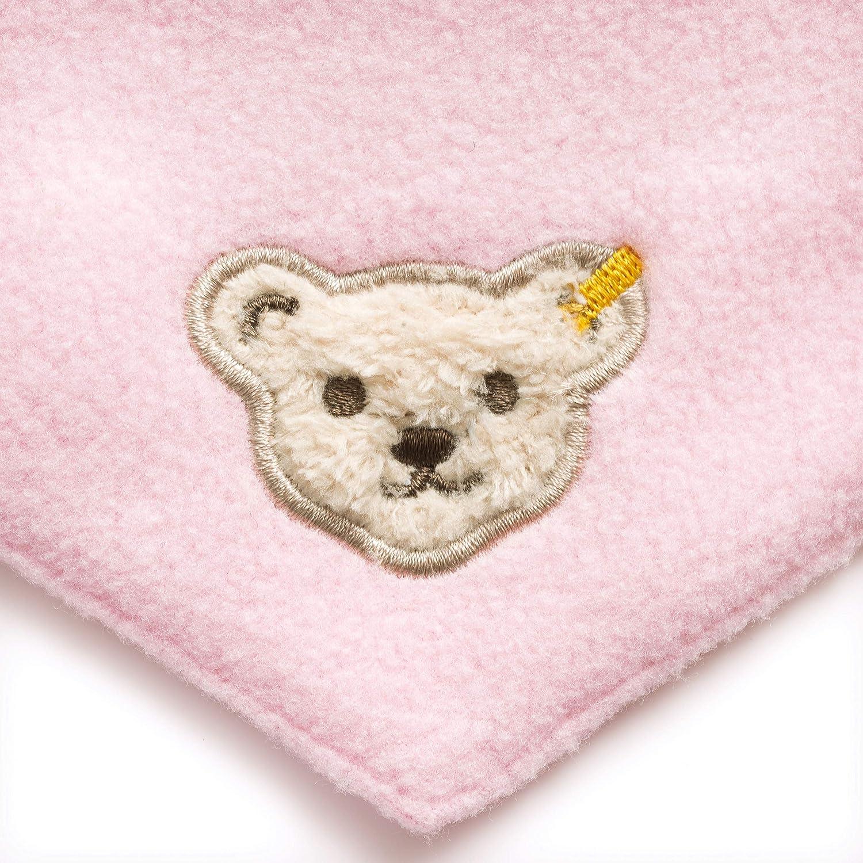 Nickituch Teddy B/är LALALO Steiff Baby Halstuch bestickt mit Namen Klettverschluss L000020117 Fleece Dreieckstuch//Nickytuch personalisiert