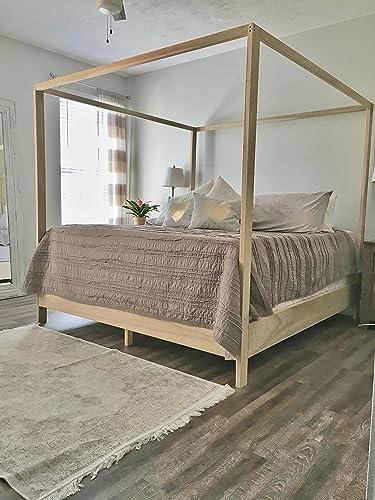 Amazon Com King Canopy Bed Frame Handmade