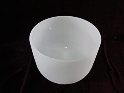 Amazon com: 11 inch Classic Frosted Crystal Singing Bowl -- Sound