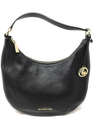 6e09fec48d28 Michael Kors Lydia Medium Shoulder Bag Black: Handbags: Amazon.com