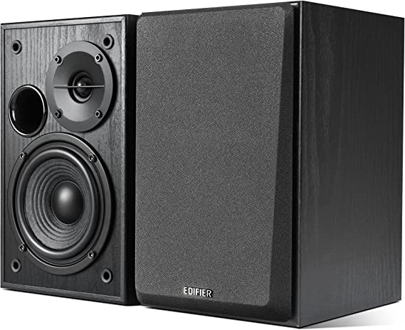 Edifier R1100 Altavoz 42 W Negro - Altavoces (De 2 vías, Alámbrico, RCA / 3.5mm, 42 W, 75-18000 Hz, Negro)