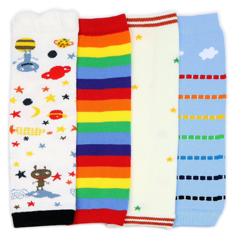 Dotty Fish - multi-packs jambières pour bébé et enfant en bas âge - Filles et garçons - packs de 4 avec des designs amusants et colorés cerises rayures et étoiles FBA-LW404-CHERRIES