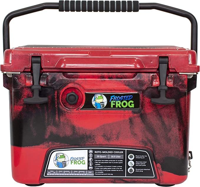 Frosted Frog Red Camo 20 Quart Ice Chest Heavy Duty