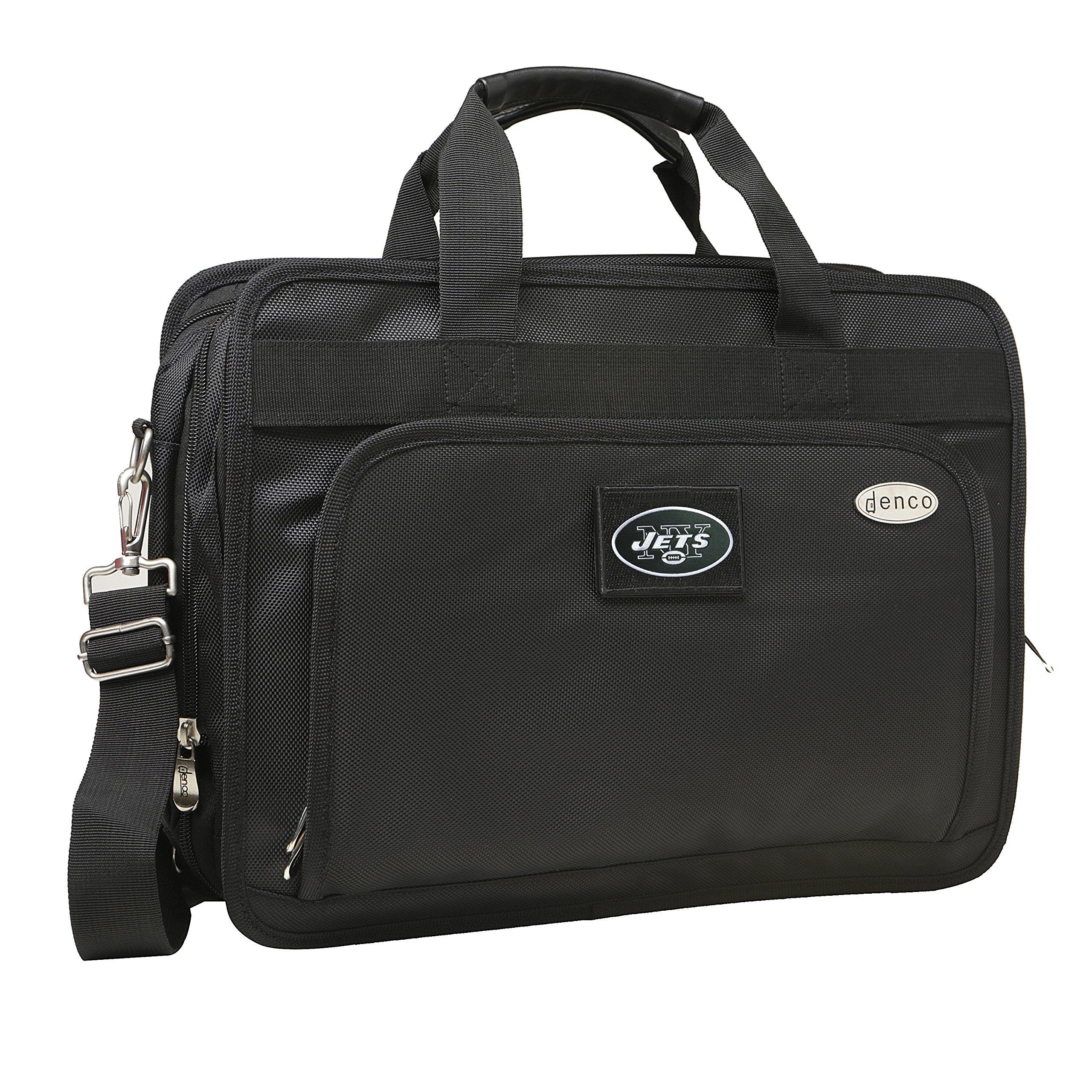 NFL New York Jets Expandable Laptop Briefcase, 13-Inch, Black