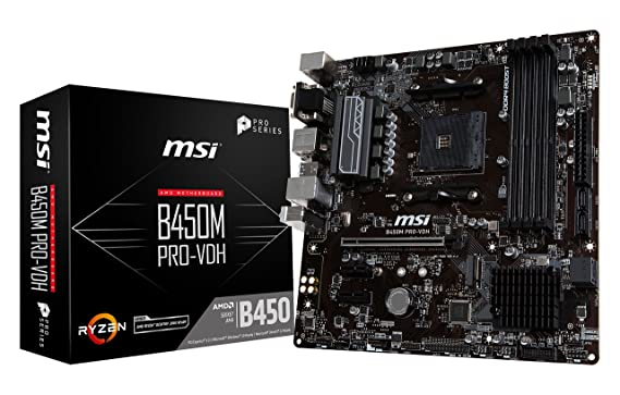 MSI ProSeries AMD Ryzen 1st and 2nd Gen AM4 M.2 USB 3 DDR4 D-Sub DVI HDMI Micro-ATX Motherboard Motherboards at amazon