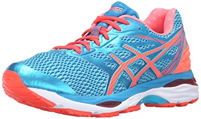 ASICS Women's Gel-Cumulus 18 Running Shoe, Aquarium/Flash Coral/Blue Jewel