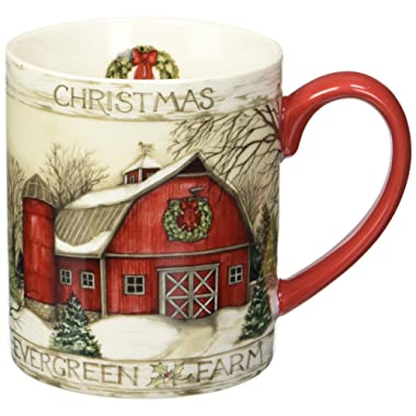 Lang Evergreen Farm Mug by Susan Winget, 14 oz, Multicolored