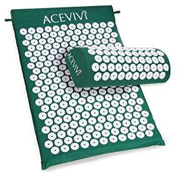 Amazon.com: ACEVIVI Acupressure Mat and Pillow Set,Relieve ...