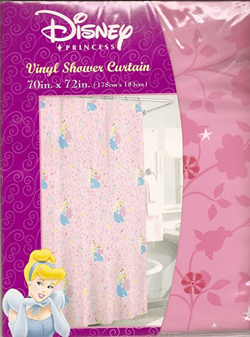 Disney Princess Vinyl Shower Curtain 70 In X 72 Cinderella Snow White And Aurora Together By Amazonin Home Kitchen