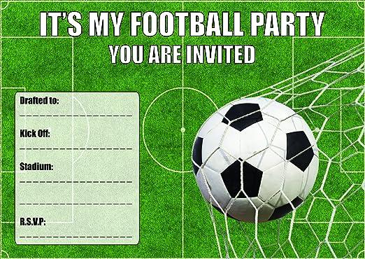 10 Fútbol tema invitaciones para fiesta de cumpleaños ...
