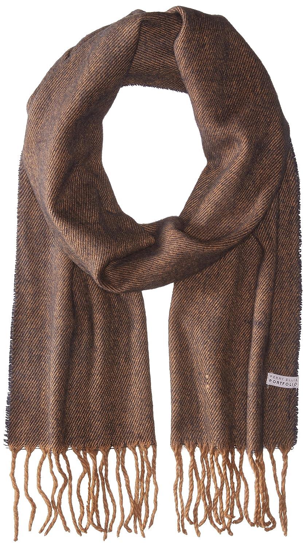 Perry Ellis Men's Reversible Jacquard Scarf Brown One Size Paramount Men' s Accessories Child PE1046
