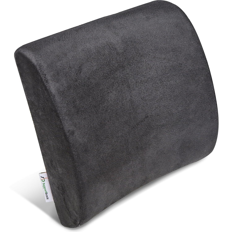 supportiback® Cojín Lumbar de apoyo terapéutica–Memoria de forma ergonómico–Apoyo del mochila para