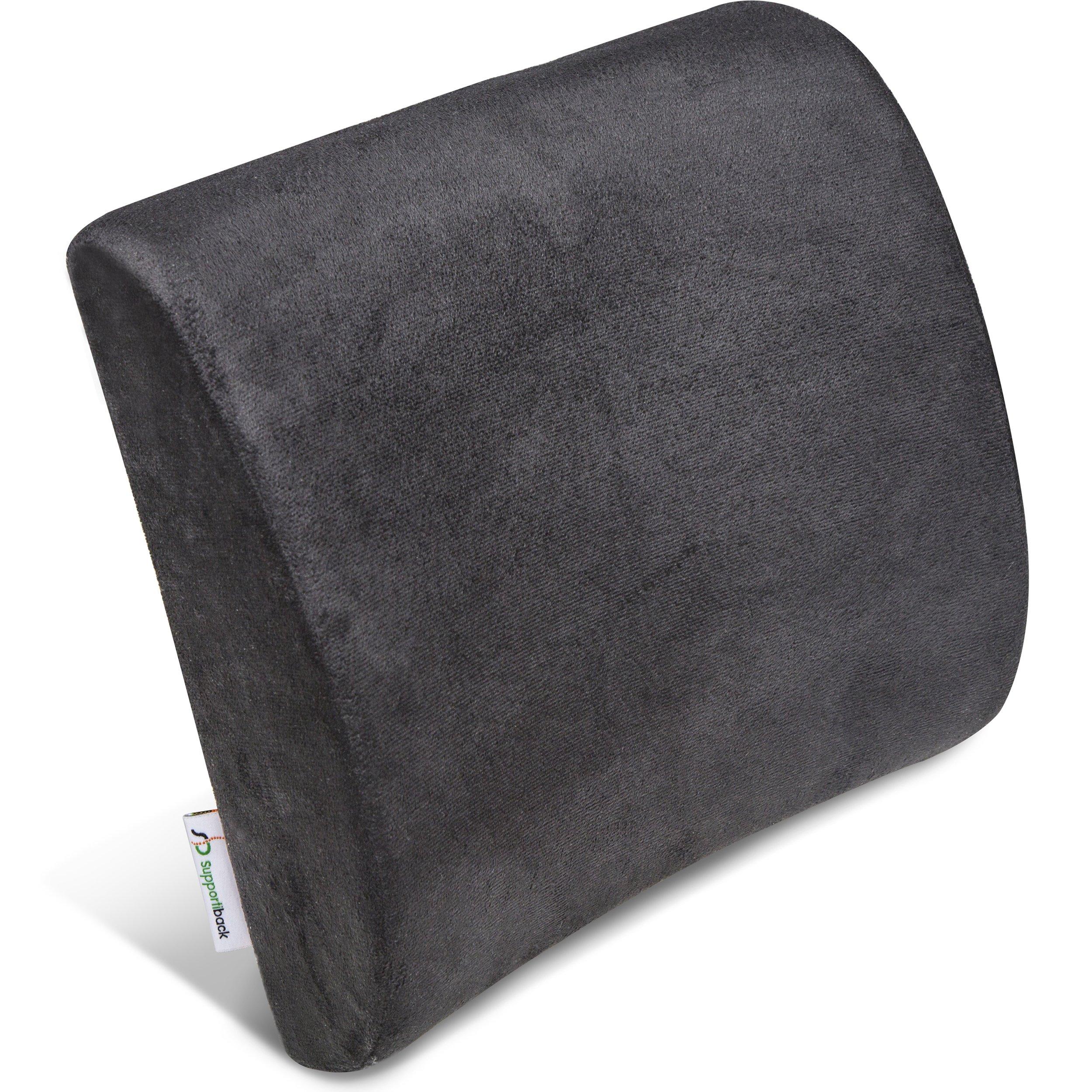 supportiback® Cojín Lumbar de apoyo terapéutica – Memoria de forma ergonómico – Apoyo del mochila