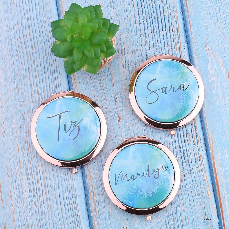 Espejo de acuarela, personalizable, con texto personalizado, ideal como regalo de despedida de soltera, para su quinceañera