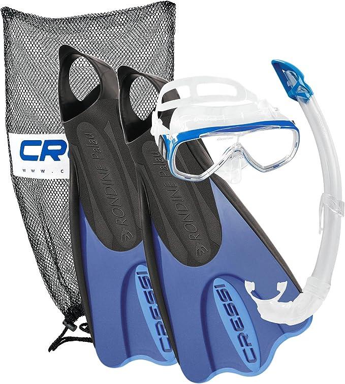 Cressi Elastic - Pack Snorkel Mascara e Aletas, Color Azul, Talla ...
