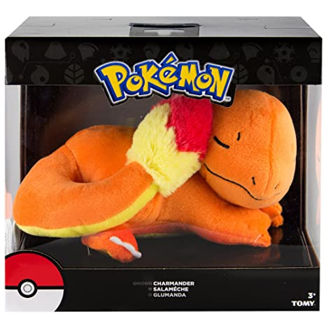 TOMY Pokemon Plush Figure Sleeping Charmander 16 cm Peluches