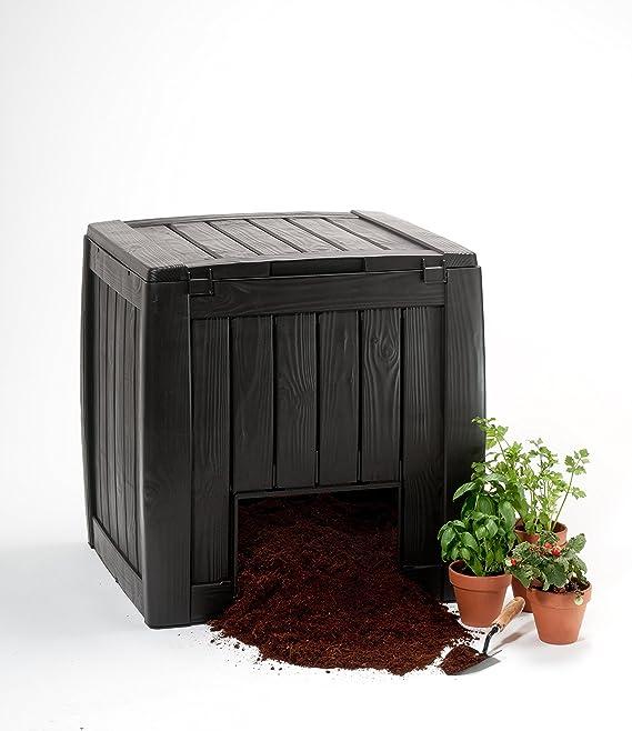 Keter Cubo de basura decorativo: Amazon.es: Jardín