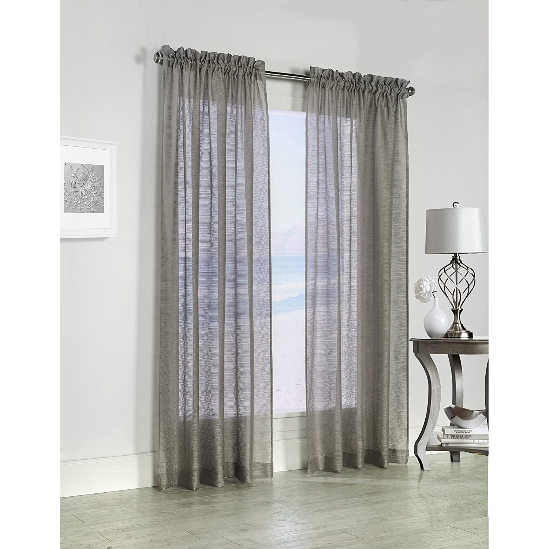 Common Wealth Home Fashions Mist Stripe,52x63,Mushroom