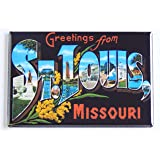 Greetings From St. Louis Missouri Fridge Magnet (2 x 3 inches)