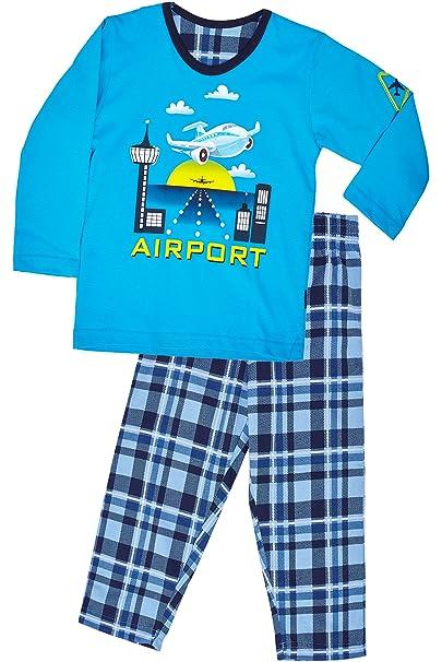 Cornette Pijamas Niño Verano Invierno CR-543-Airport (Turquesa, 86-92