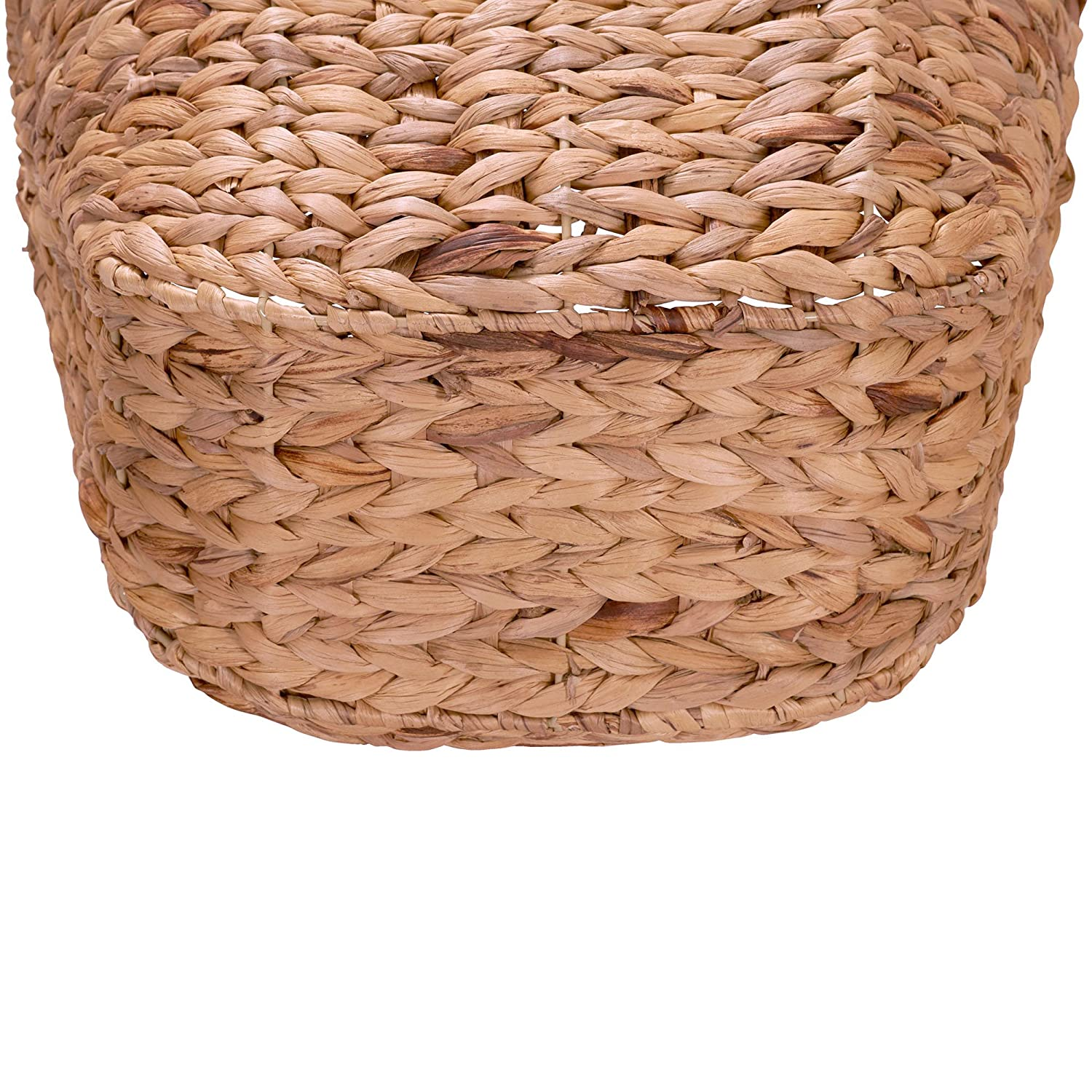 Household Essentials Ml 4002 Tall Water Hyacinth Wicker Basket With Handles Natural Brown Natural Laundry Baskets Laundry Storage Organization