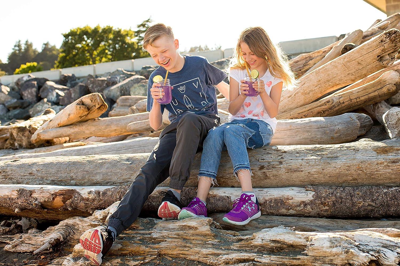mit Einhorn-Reisetasche inklusive Strohreiniger und Einhornbeutel Strohhalme aus Edelstahl 4 Trinkhalme f/ür Tee oder Smoothie zur #NoStrawChallenge Regenbogenfarben