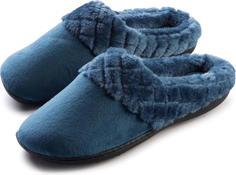 Roxoni Women's Velour Slippers Memory