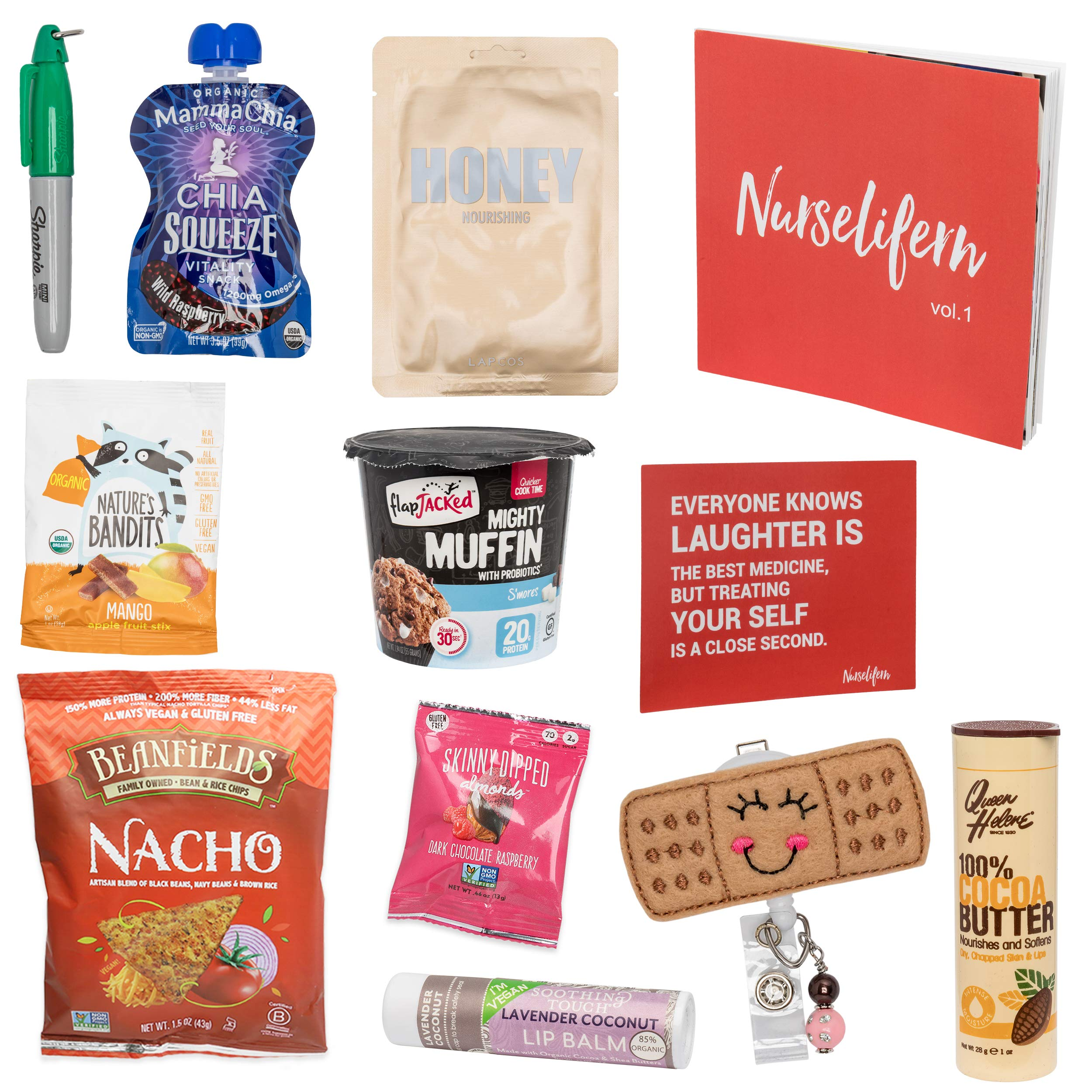 Nurse Essentials Gift Box: Nurse Badge Healthy Snacks Self Care Nurse Gift Must Haves All In One By Nurselifern by BUNNY · JAMES · (Image #2)