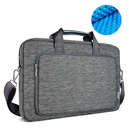 Review OneOdio 17.3 inch Briefcase Messenger Shoulder Bag with Handle and Shoulder Strap Multi-Functional Waterproof Carrying Case for Laptop/Notebook / MacBook/Ultrabook / Chromebook Computers (Grey)
