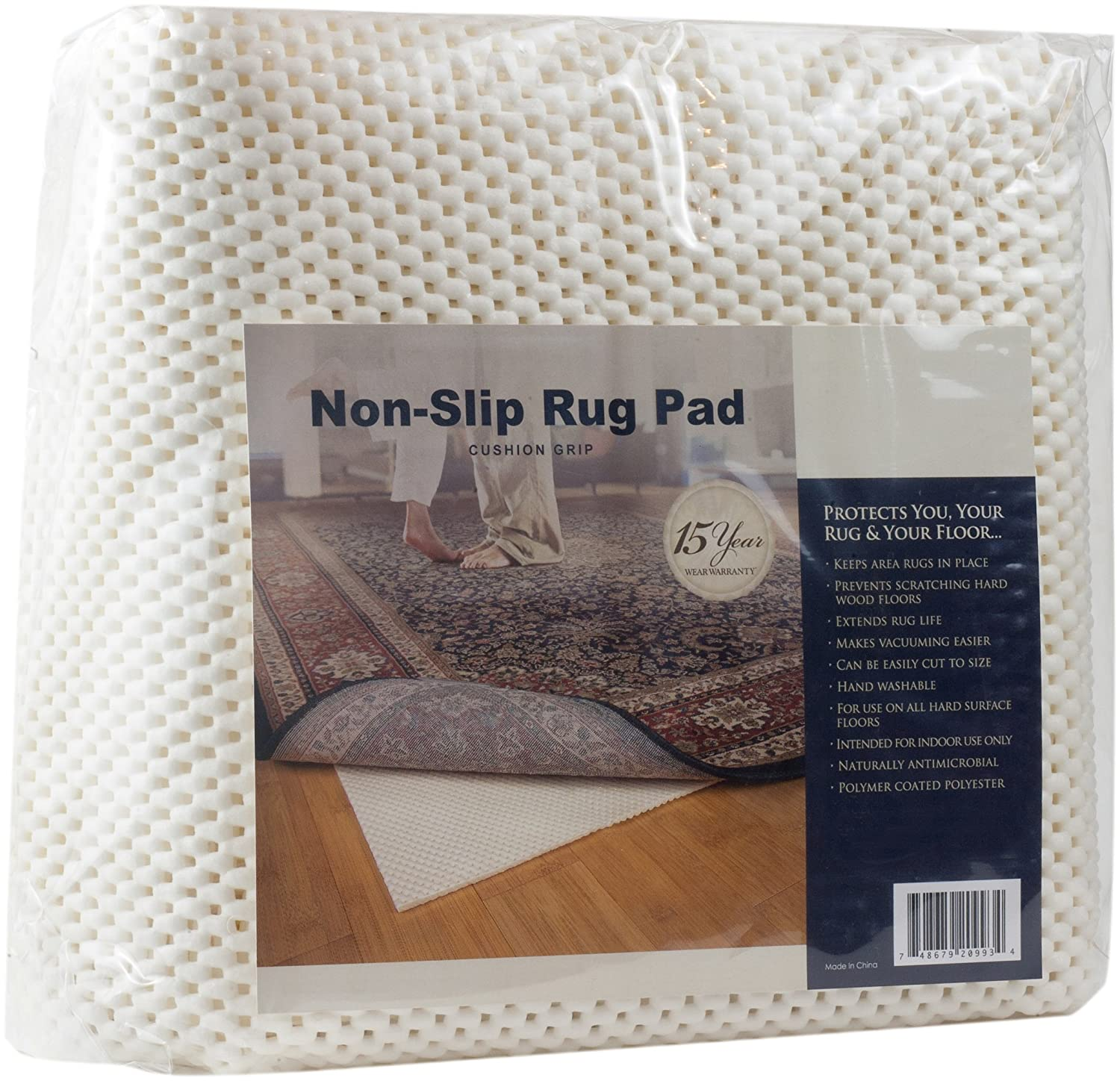 Amazon Com Cushion Grip Non Skid Area Rug Pad For 6 Feet Round Rug