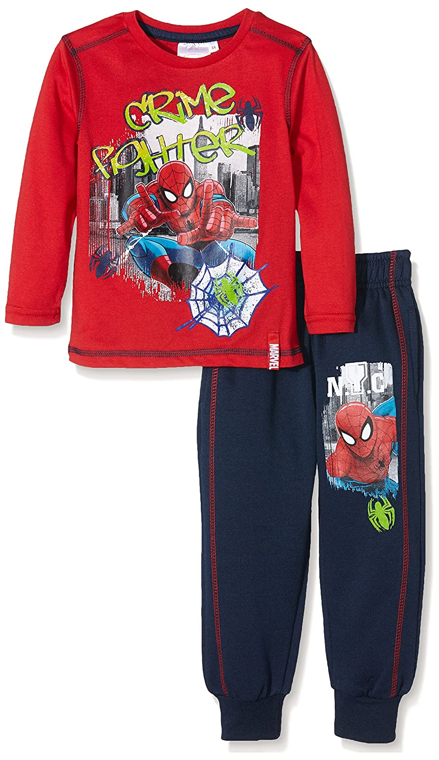 Marvel Boy's Spiderman Crime Fighter Sports Sets Red 3 Years PH1070