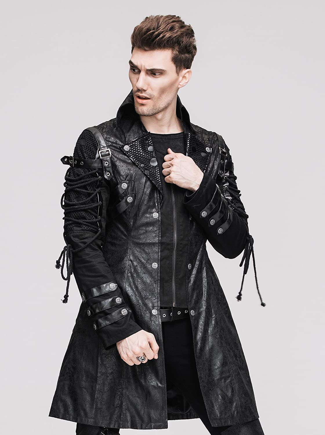 Men's Steampunk Costume Essentials Steampunk Coat Gothic Clothing Victorian Cyberpunk Punk Jacket Renaissance Costume $168.99 AT vintagedancer.com