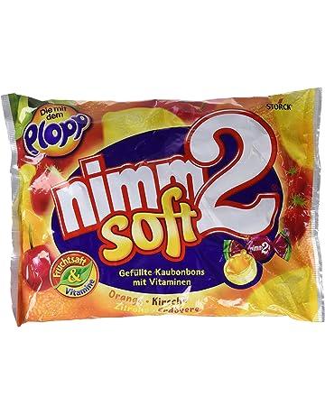 ef123522f Nimm2 Caramelos Blando de Naranja y Limón Con Vitamina C, Con Interior de  Zumo de