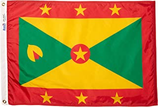 product image for Annin Flagmakers Model 192993 Grenada Flag Nylon SolarGuard NYL-Glo, 2x3 ft, 100% Made in USA to Official United Nations Design Specifications