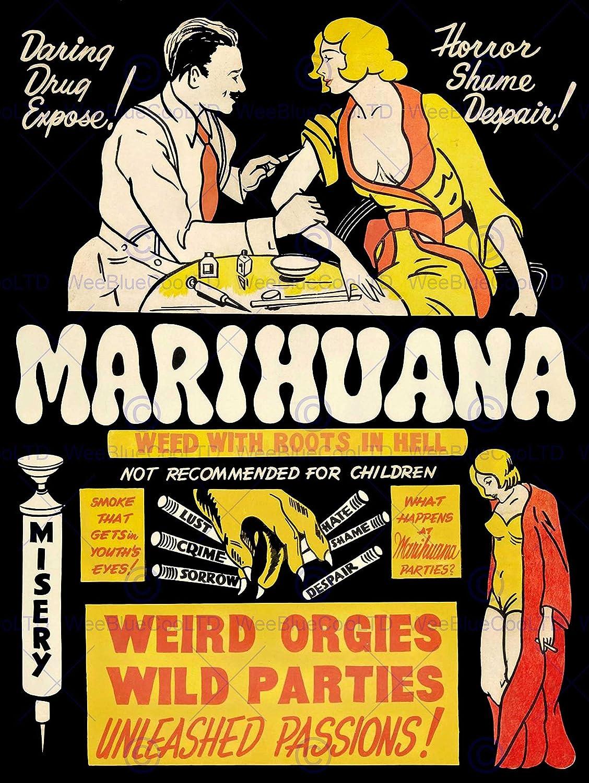 Amazon.com: Wee Blue Coo Prints PROPAGANDA POLITICAL DRUG ABUSE ...