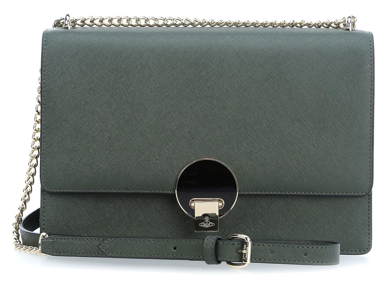 f205ef296c6 Vivienne Westwood Opio Saffiano Shoulder Bag green: Amazon.co.uk: Clothing
