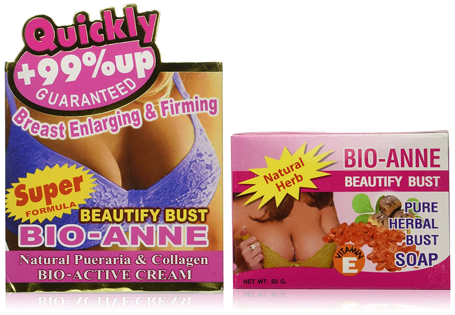 Quick Breast Bust Enlargement Cream - Works Guaranteed (1 Box & Free gift)  : Body Gels And Creams : Beauty
