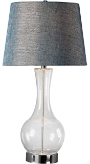 Kenroy Home 21036SL Mattias Table Lamp, Natural Slate with Copper ...:Kenroy Home 32255CLR Decanter Table Lamp, Clear Glass Finish,Lighting