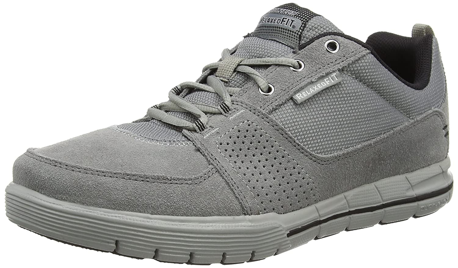 Skechers Mens Arcade II Next Move Shoes Charcoal Black Size