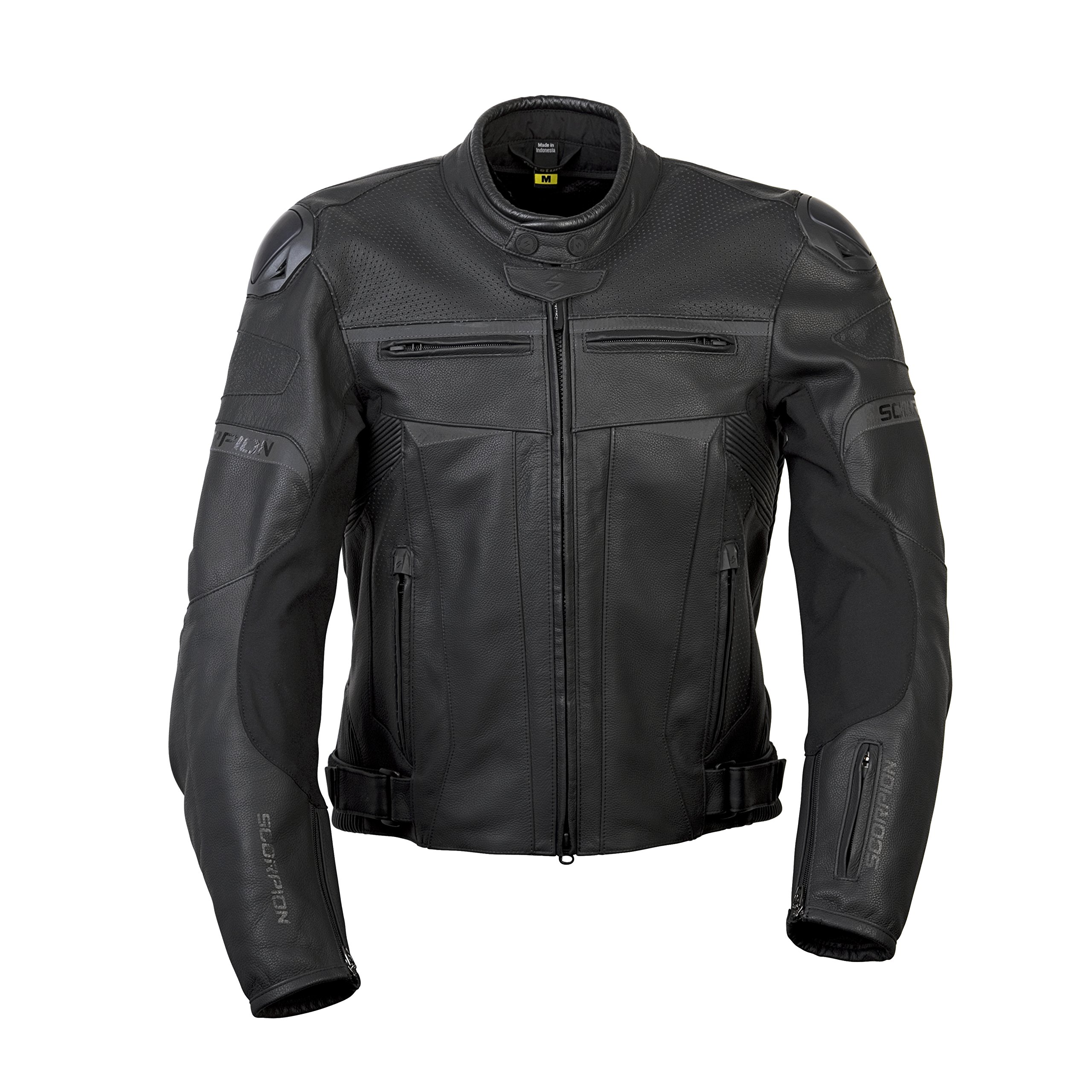 ScorpionExo Ravin Men's Leather Sport Motorcycle Jacket (Black, X-Large)