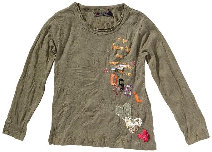 sale retailer f9c55 1a89b Desigual - Maglietta, Colletto Tondo, Manica Lunga, Bambina ...