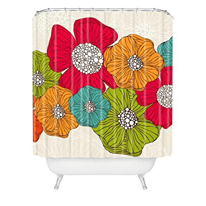 Amazon Deny Designs Valentina Ramos Flowers Shower Curtain 69