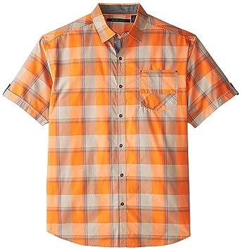 fa1d7e20651 Sean John Men s Big-Tall Short Sleeve Check Shirt with Pieced Bias Pocket