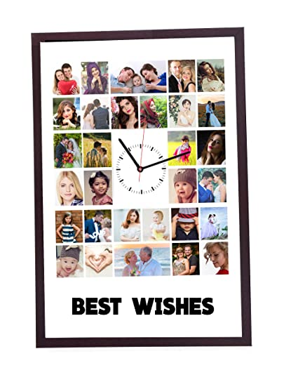 Buy 15in X 12in PERSONLAISED COLLAGE WITH PHOTO CLOCK PHOTO CLOCK ...