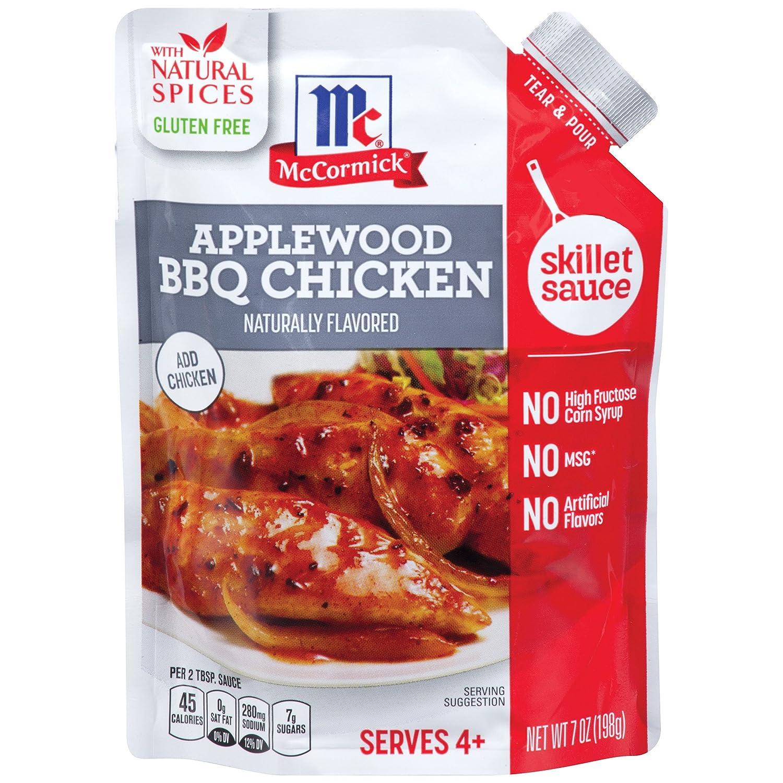 McCormick Applewood Bbq Chicken Skillet Sauce, 7 oz