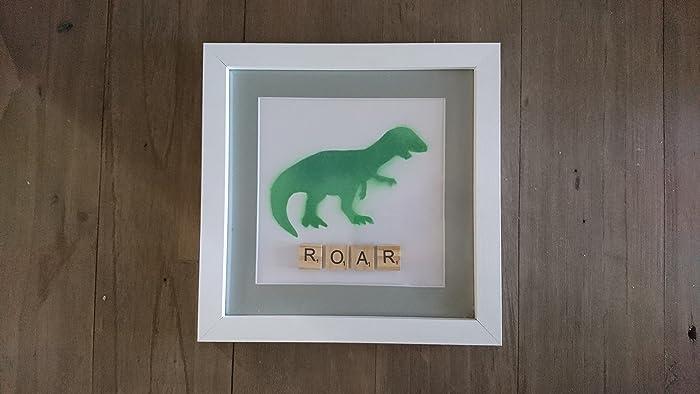 personalised dinosaur scrabble frame nursery decor amazon co uk