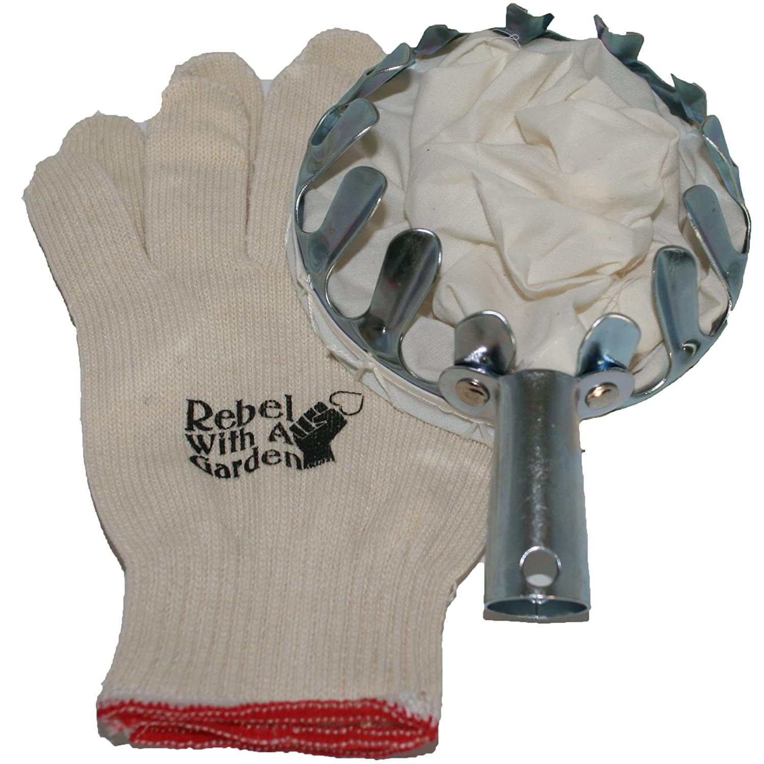 Long Armed Rebel Fruit Picker Basket Tool for picking Apples, Peaches, Pears, Plums by Rebel With A Garden
